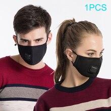 PM2.5 противотуманные маски многоразовые маски для мужчин и женщин зимние теплые респираторы рот маска с дыхательным клапаном Чистый хлопок