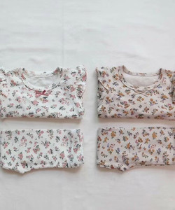 女の子パジャマ服セット花柄綿の幼児女の子服セット