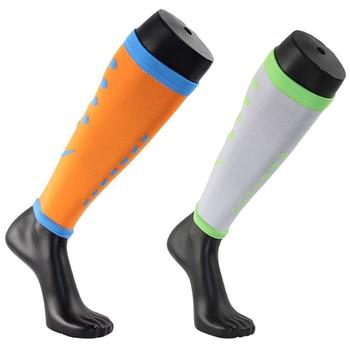 2Pairs/Lot Men Women Long High Socks Fashion Sport Below Knee Leg Sleeve Support Slimming Compression Running Socks cow pattern socks 2pairs
