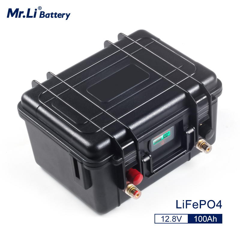 <font><b>Lifepo4</b></font> <font><b>12V</b></font> <font><b>100Ah</b></font> Rechargeable <font><b>Battery</b></font> Pack With Build-in BMS For Solar System Boat Power Supply EV RV Refrigerator image