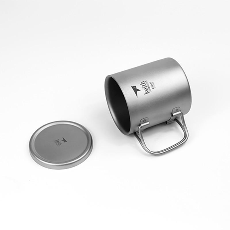 Кружка с двойной стенкой кофейная кружка теплоизоляция офисные кружки двойной кофе титановая чашка питьевое молоко путешествия кемпингов... - 6