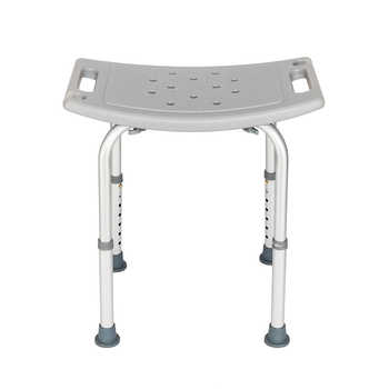 Aluminium Alloy Elderly Bath Chair without Back of a Chair Gray Elderly Bath Chair without Back of a Chair - DISCOUNT ITEM  20 OFF Furniture
