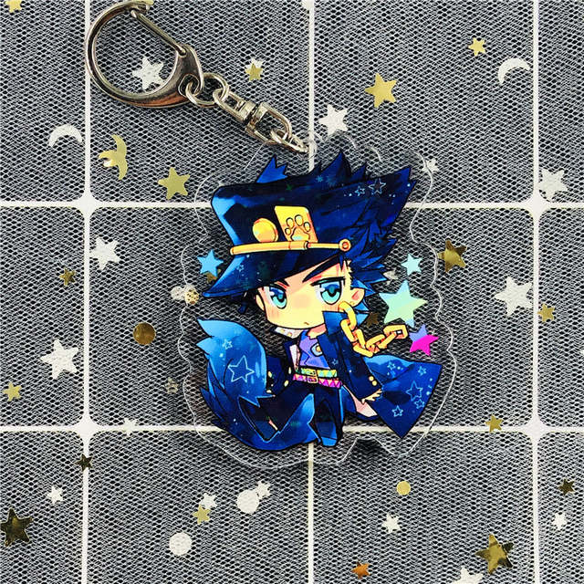 Anime Jojo Bizarre Adventure Keychain Cartoon Figure Cosplay Acrylic Pendant Keyring 2020 Key Chains Aliexpress