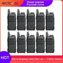 זול ווקי טוקי 10 pcs Retevis RT22 FRS RT622 PMR רדיו PMR446 מקצועי מכשירי קשר Wokï טוקי מלון מסעדה קפה