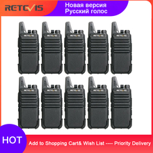 10 pcs Retevis RT22 Mini Walkie Talkie 2 W VOX แบบพกพาวิทยุ Station โรงแรม/ร้านอาหารอุปกรณ์การสื่อสาร