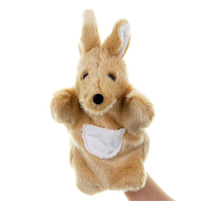 Cartoon Animal kangaroos Hand Puppets Soft short Plush Doll Kids Glove ventriloquism interactive Hand Puppet hand toys A40 cheap keep away from fire FNO01 COTTON 3 years old Unisex Finger Puppet handpuppe hand puppets for kids marioneta de mano tiburon