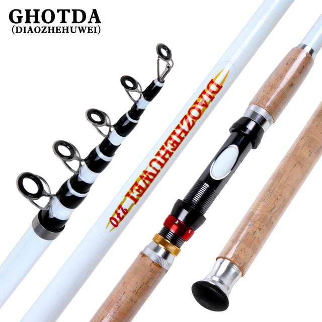 GHOTDA Rock Fishing Rod Telescopic Sea Super Hard