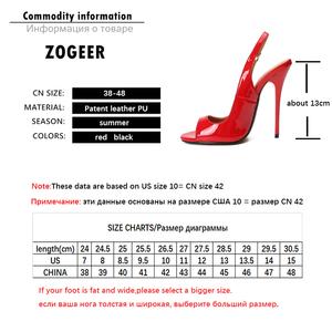 Image 5 - Büyük boy yaz topuklu sandalet kadın yüksek topuklu ayakkabı sandalet kadın Peep Toe geri askı seksi siyah kırmızı düğün parti ayakkabıları bayan