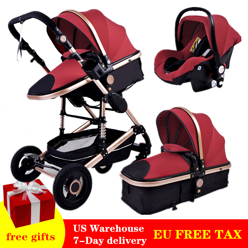luxury-multifunctional-3-in-1-baby-stroller-portable-high-landscape-gold-black-baby-carriage-folding-newborn-carrinho-de-bebe