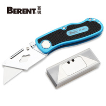 цена на Berent Electrician Utility Knife with 5PC Blades SK5 Folding Knife Pipe Cable Cutter Knives Office Tool Unpack Tools