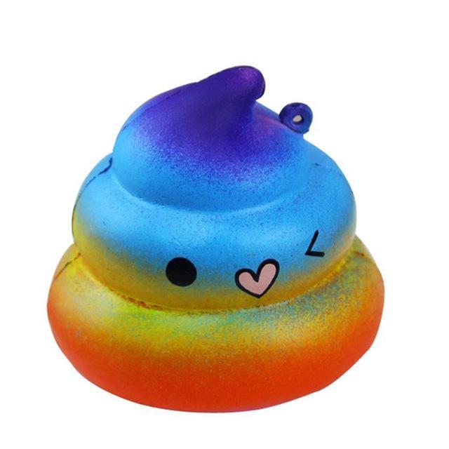 Rainbow Shit Squishy Slow Rising Cream Cake Kids Toy Gift Anti Stress Squishes PU Foam Cute Gift Toys