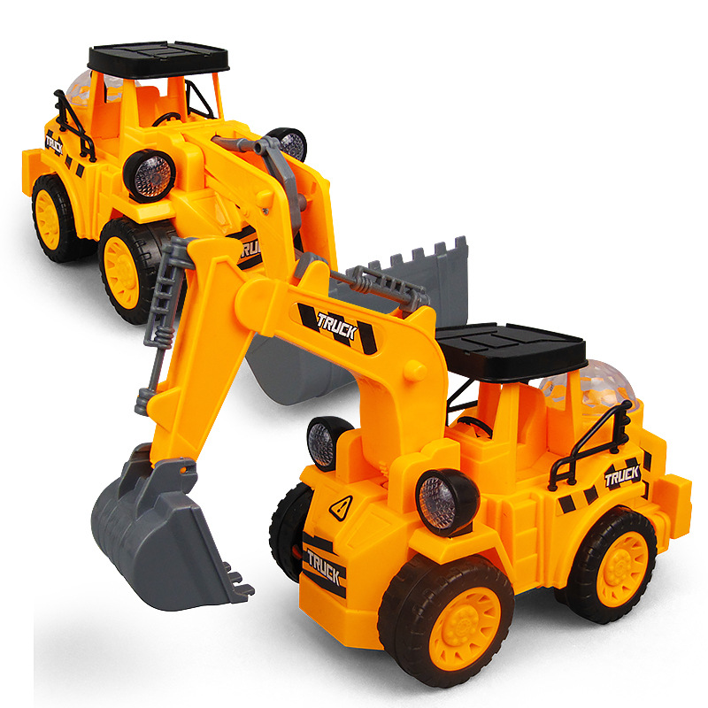 Children Universal Electric Engineering Car Excavator Bulldozer Light And Sound Model Toy