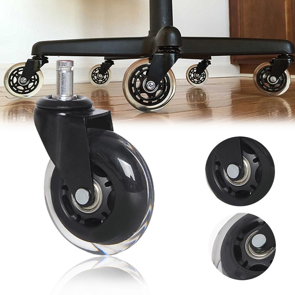 3-дюймовый скейт Стиль кресло-каталка для офиса дома мебель замены универсальная Тихая рицинус PU перчатки от вибрации аппаратные средства 5 шт./компл