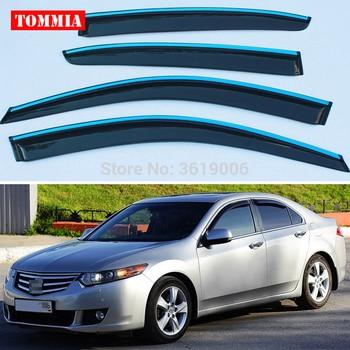 tommia Brand New For Honda Accord 8th 2008-2013 Window Visor Shade Vent Wind Rain Deflector Guards Cover 4pcs/Set