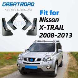 Dla Nissan x-trail T31 2008-2013 Xtrail błotniki klapa błotna błotniki błotnik 2009 2010 2011 2012 zestaw formowane błotniki samochodowe klapa błotna s