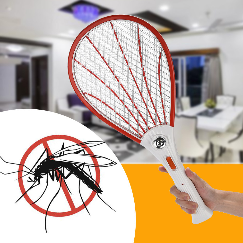 Rechargeable LED Electric Fly Mosquito Swatter Insect Bug Zapper Pest Anti Mosquito Swatter Killer Racket Insect#30