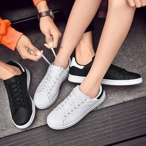 Image 5 - Zapatos Smith de Four seasons para hombre, zapatillas clásicas antideslizantes, resistentes al desgaste, informales, color blanco