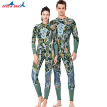 Men Women One Piece Wetsuit 3MM Neoprene Warm Surf Dive Diving Suit Green Camouflage Full Body Spearfishing Rowing Wet Suit new scr neoprene 3mm camouflage one piece diving suit surf suit warm waterproof wetsuit for male size s xxl