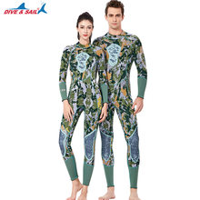 Men Women One Piece Wetsuit 3MM Neoprene Warm Surf Dive Diving Suit Green Camouflage Full Body Spearfishing Rowing Wet Suit(China)