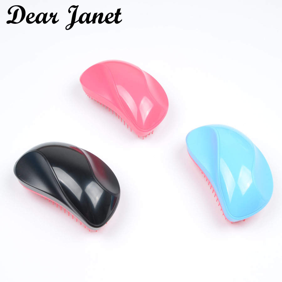 1pc Cute Detangle Comb Detangling Hair Brush Professional Salon Comb For Smoothing Hair 3 Colors Options No Tangle