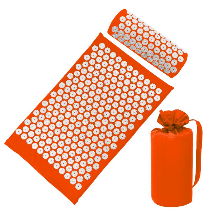 Acupressure Massage Mat with Pillow set to body Relaxation to Release Stress and Tension 55