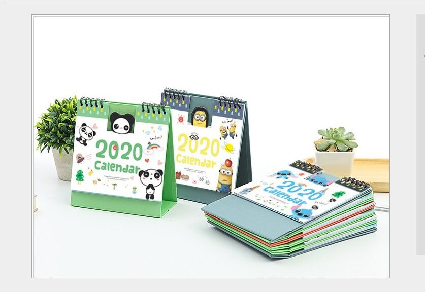 New Year 2020 Calendar Lovely Cartoon Animal Minions Totoro Panda Kitty Desktop Calendar Daily Schedule Yearly Agenda Organizer