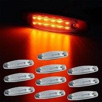 10PCS Truck Side Marker Lights Amber Clear Lens 12LED Trailer Lights Side Marker Light Panel Under Cab For Peterbilt Truck