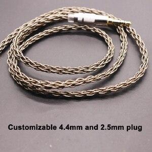 Image 2 - 8 נתח 152 ליבה אחת קריסטל נחושת כסף ציפוי אוזניות שדרוג קו MMCX/0.78/IE80/ QDC/A2DC/IM50