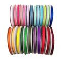 (20 ярдов) Лента-корсаж 6 мм, 1/4 дюйма, лента из 100% полиэстера, корсажная лента, белая, черная, розовая, красная, зеленая, фиолетовая, лента для ру...