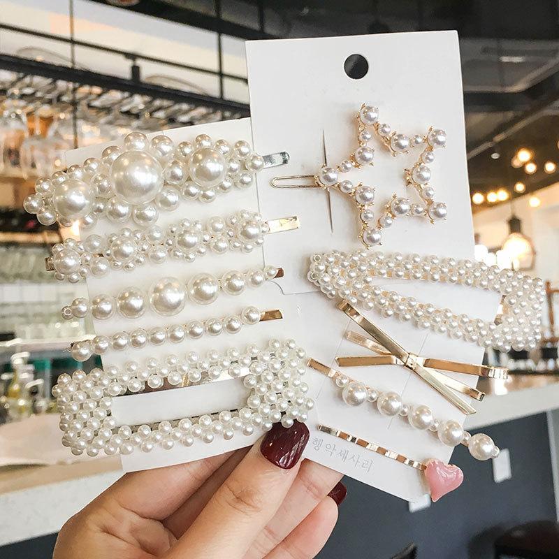 1 Set Woman Fashion Pear Hairpins Sets Elegant Geometric Hair Clips Girls Hairgrip Women Hair Accessories Ornaments Accessories