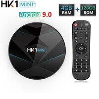 HK1 Mini Android 9.0 Smart TV BOX 4G RAM 128G ROM RK3318 4K H.265 TV Box 2.4G 5G Wifi BT4.0 Media Player Set Top Box vs HK1 MAX
