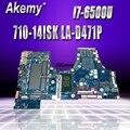 Материнская плата для ноутбука lenovo Yoga 710-14ISK с i7-6500u процессором LA-D471P 5B20L47395 DDR4 MB 100% протестированная Быстрая доставка