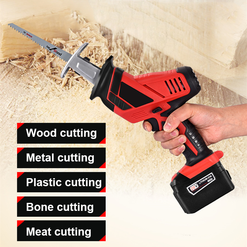 36V Li-Ion Battery Cordless Electric Saw Reciprocating Saw For Wood Metal Plasitic Pipe Cutting Power Saw Tool