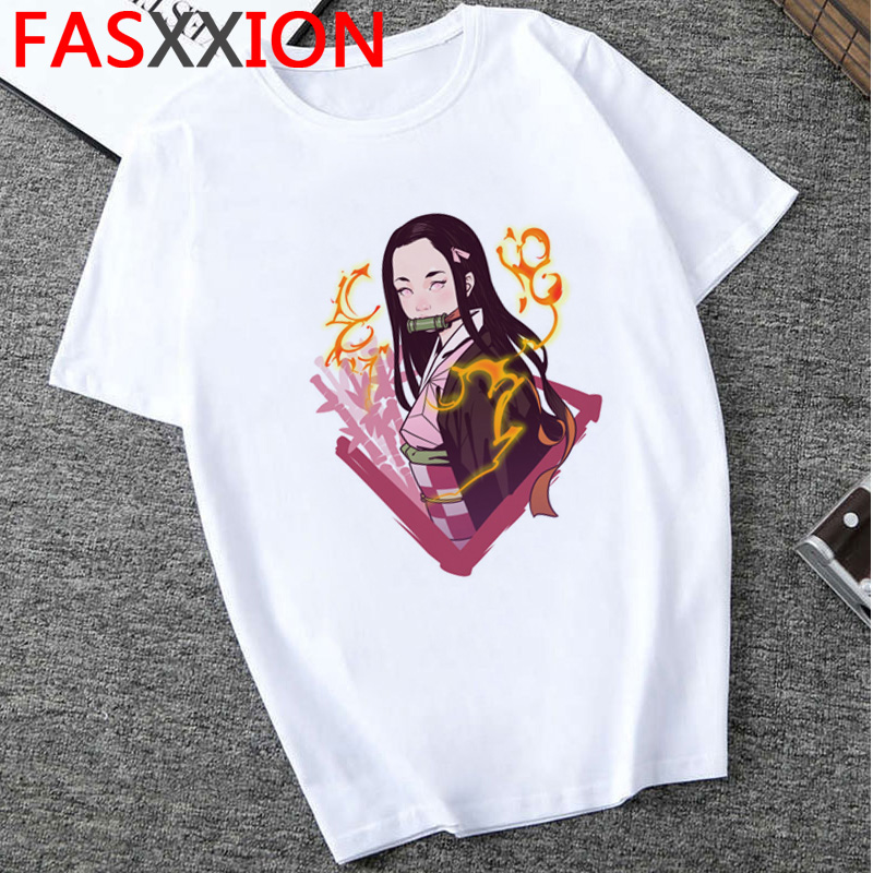 He054d0690fff425a8675ff91b8596221G - Demon Slayer T-shirt  Graphic Tees Men Streetwear  Japanese Anime Cool Tshirt Funny Cartoon Kimetsu No Yaiba T Shirt Male