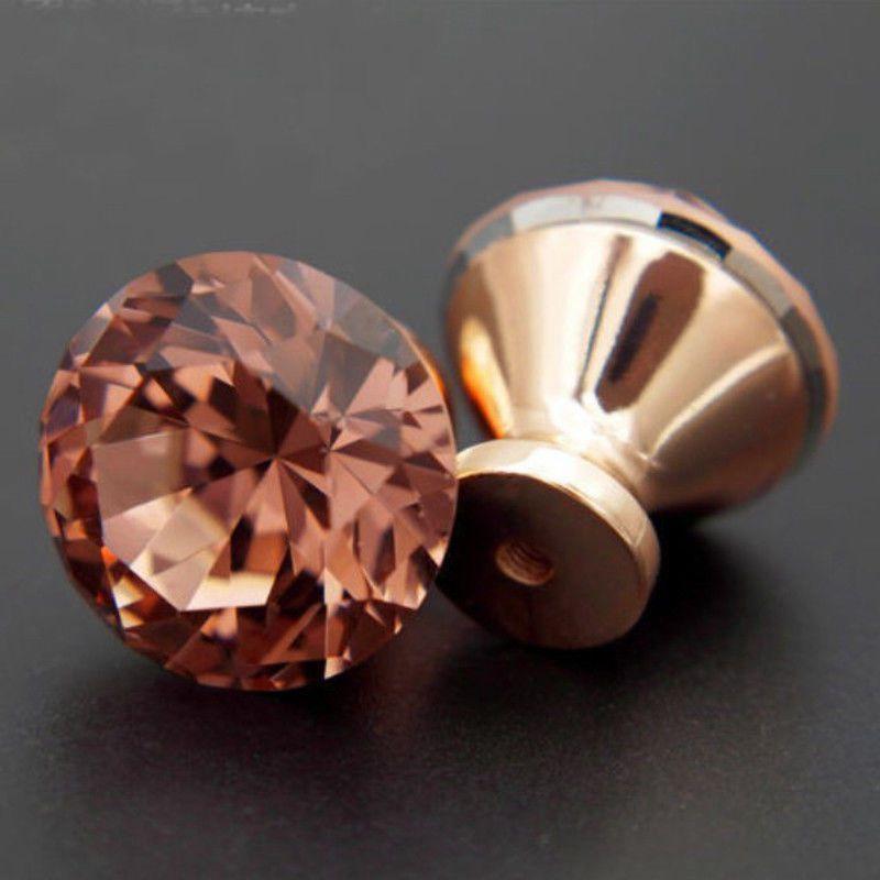 2019 New Diamond Shape Design Crystal Glass Knobs Cupboard Drawer Pull Kitchen Cabinet Door Wardrobe Handles Hardware 30mm