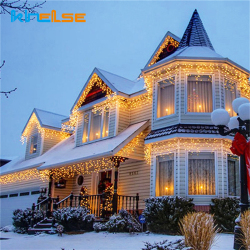 Christmas Outdoor LED Curtain Icicle String Lights 100 meter 800 LED Indoor Drop Party Garden Stage Outdoor Waterproof Decor