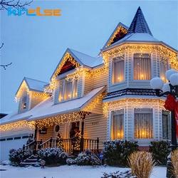 Kerst Outdoor LED Gordijn Ijspegel Lichtslingers 100 meter 800 LED Indoor Drop Party Tuin Stage Buiten Waterdichte Decor