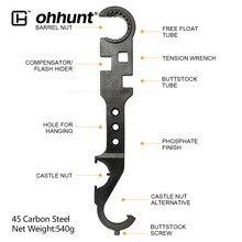 Herramienta de Llave combinada AR15, incluye tuerca de Castillo, llave de barril, tuerca, tubo de culata, herramienta de freno de boca, Flash Hider, herramienta de guardamanos