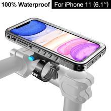 Fiets Telefoon Houder Motorfiets Stuur Cradle, fiets Telefoon Mount Voor Iphone 11 Pro Max 7/8 SE2020 Waterdichte Case Gps Ondersteuning