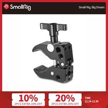"""SmallRig Super Clamp (10 55 mm) With 1/4"""" Threaded Holes And Arri Locating Hole For Universal Rods With 10 55mm Diameter 2220"""