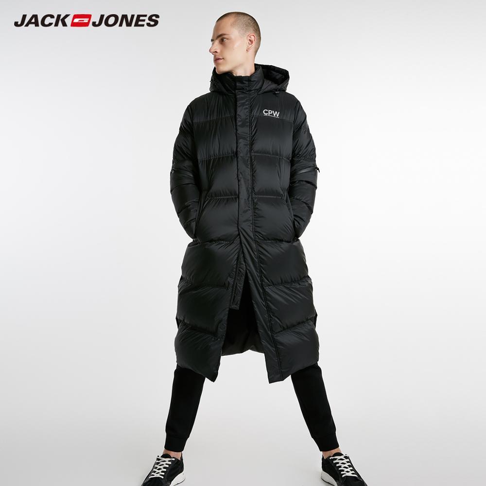 JackJones Men 39 s Winter Long Hooded Duck Outdoors Outerwear Winter Male Casual fashion down jacket Coat Menswear 218312520 in Down Jackets from Men 39 s Clothing