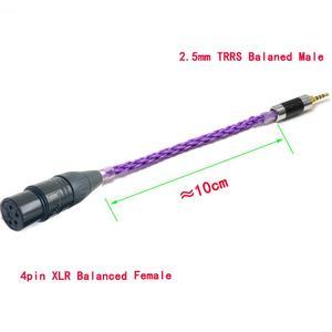 Image 2 - Haldane alta fidelidade 10cm 2.5mm trrs masculino equilibrado para 4 pinos xlr fêmea equilibrada cabo adaptador de áudio para ak240 ak380 ak320 DP X1 (roxo)