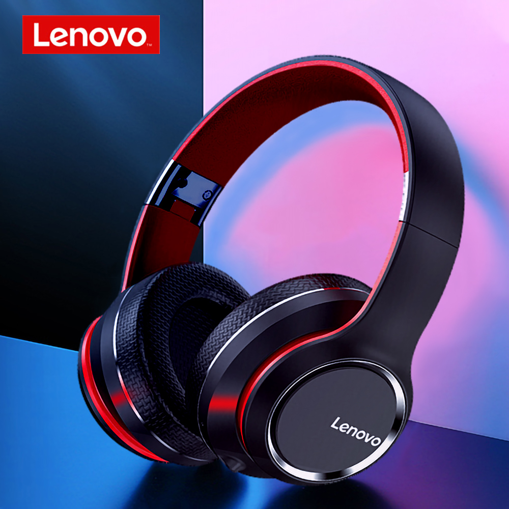 Lenovo HD200 Bluetooth Wireless Headphone BT5.0 Long Standby Life Headset with 3.5mm jack Stereo Gaming Over ear Headset