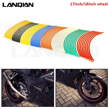 Motorcycle Strips Wheel Sticker Stripe Tape Accessory For Honda CR CRF SL XR CRM 80 85 150 230 250 450 X R MOTARD AR Accessories image