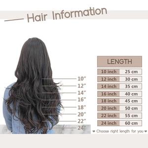 """Image 5 - [27 couleurs] Ugeat pince dans les Extensions de cheveux 14 22 """"cheveux humains Double dessiné Remy cheveux pleine tête pince dans les Extensions 120g/7 pièces ensemble"""
