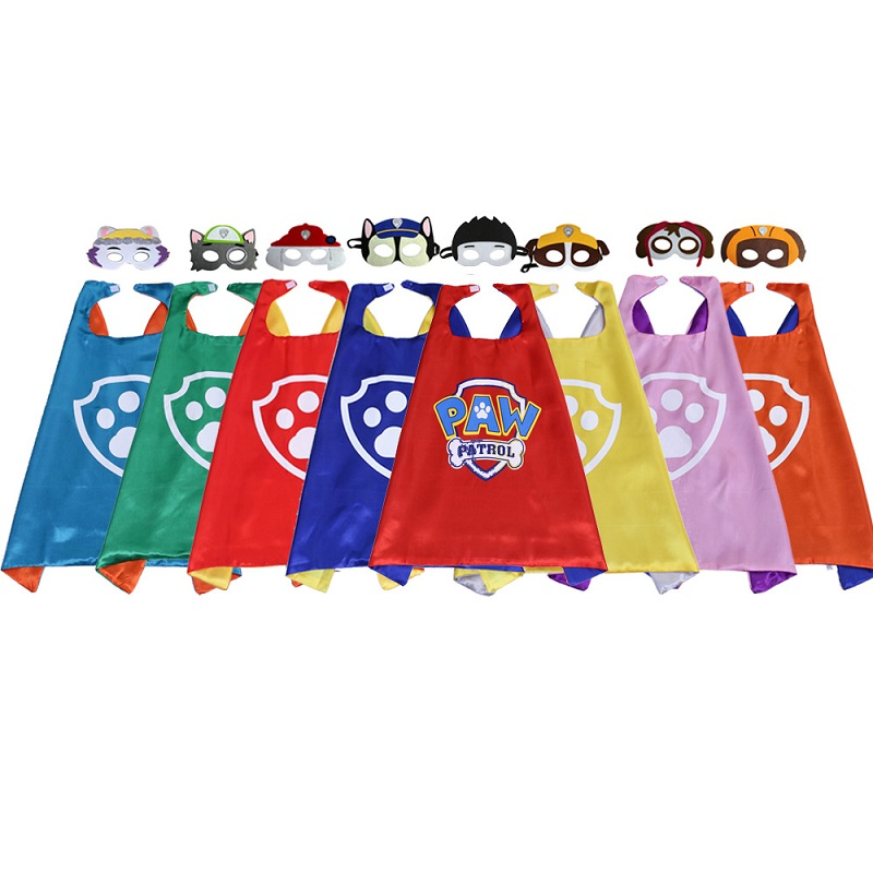 Paw Patrol Cosplay Dog Rescue Toys Set Mask Cape Cloak Cartoon Figure Halloween Party Decoration Kids Christmas Birthday Gifts