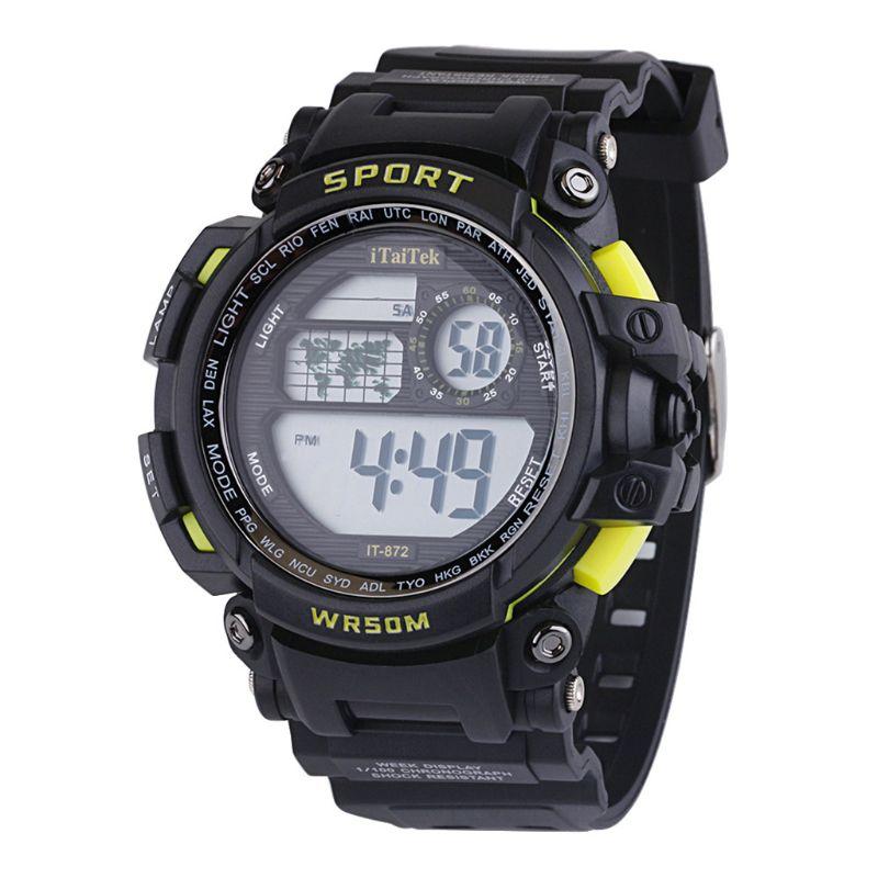 Kids Boys Girls Digital Multi Function Sports Wrist Watch Unisex Children Student Electronic Waterproof Outdoor Watches T4MD