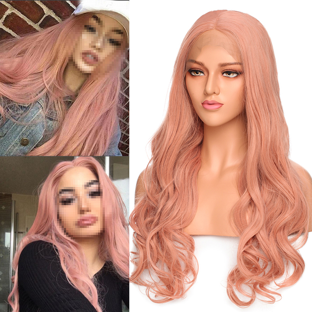 VeryYu 24 inch Long Wavy Synthetic Lace Front Wig Hair Extensions & Wigs  VerYYu