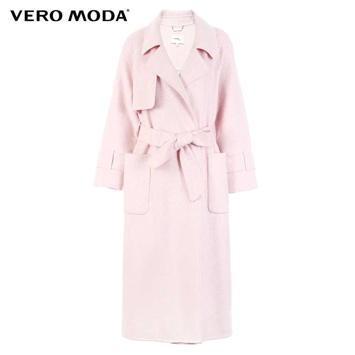 Vero Moda Vrouwen 61.3% Wol Blend Pure Dubbele Geconfronteerd Jas   318327508