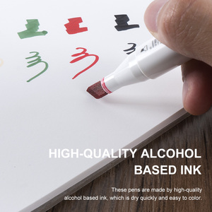 Image 4 - 60 Coloured Alcohol Markers Art Drawing Manga Twin Tip Marker Pen  Set+Carry Bag+Highlight Pen Art Supplies